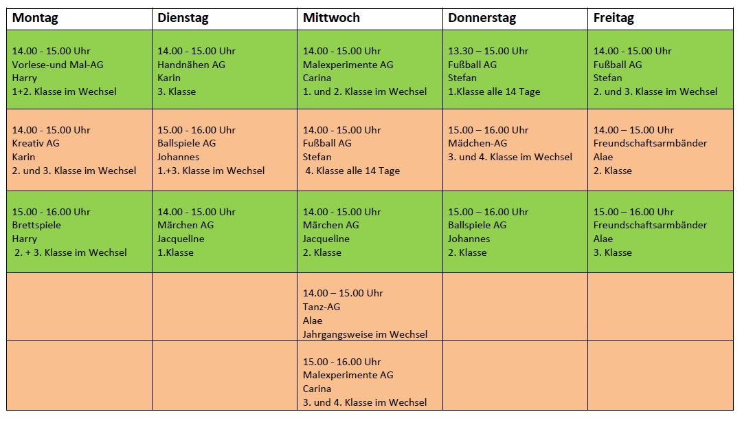 AG Stundenplan